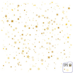 Gold Confetti celebration, Falling golden abstract decoration fo