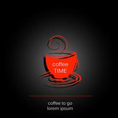 coffee cup easy all editable
