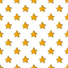 Five pointed star pattern, cartoon style
