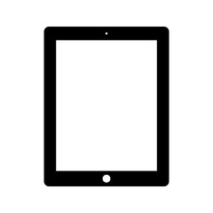 tablet icon flat style black color isolated on white background. stock vector illustration eps10