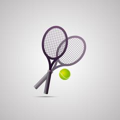 Векторная иллюстрация иконка простой символ плоский для веб tennis racquet теннисная ракетка