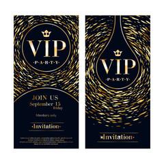 VIP invitation card premium design templates set.