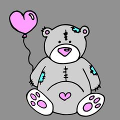 bear vector toy teddy illustration animal cute