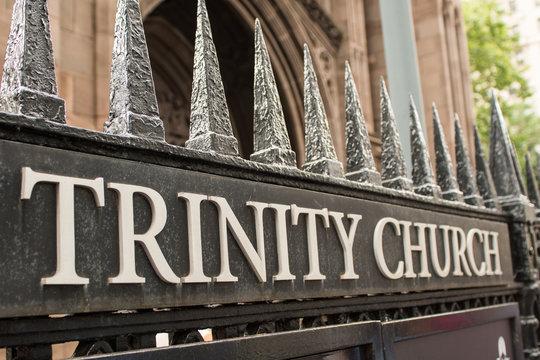 Trinity Church, Heavy metal gates, in lower Manhattan
