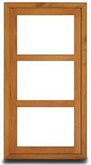 Holz-Bilderrahmen mit 3 Fenstern, vertikal Für Webseitengestaltung und Druck