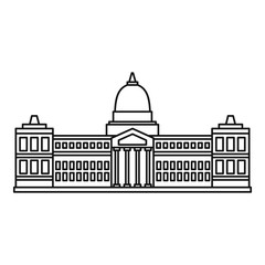 Palace of Congress, Buenos icon, outline style