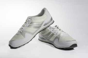 White men's sneakers.