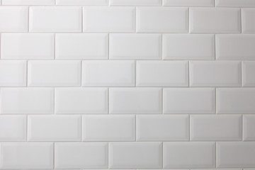 White ceramic tile texture. Design ideas for wall, floor and background.