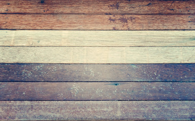 Gray white brown wood wall texture background - vintage filter style