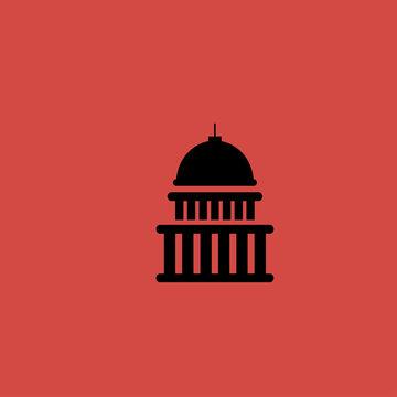 white house icon. flat design