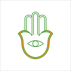 Hamsa symbol flat icon on background