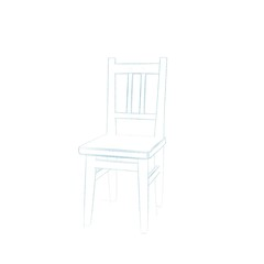 Chair. Isolated on white background.Sketch illustration.