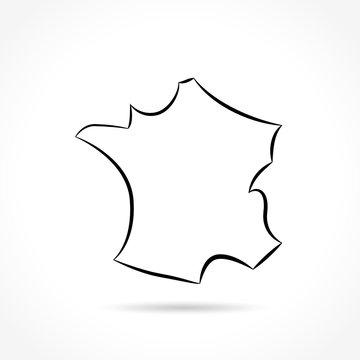 france icon on white background