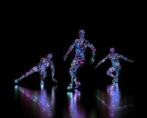 Abstract Disco or club dancers