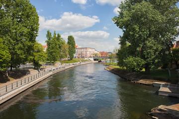 Brda River in City of Bydgoszcz