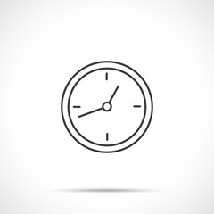 Clock and time sign isolated on white background. Line art style.