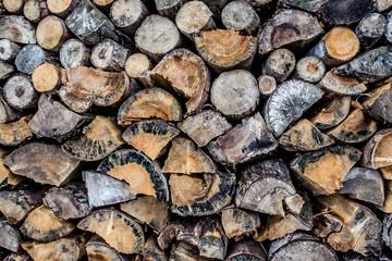 Pattern of wood logs