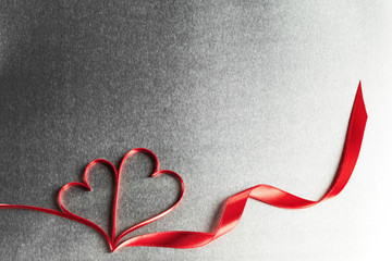 Two ribbon hearts