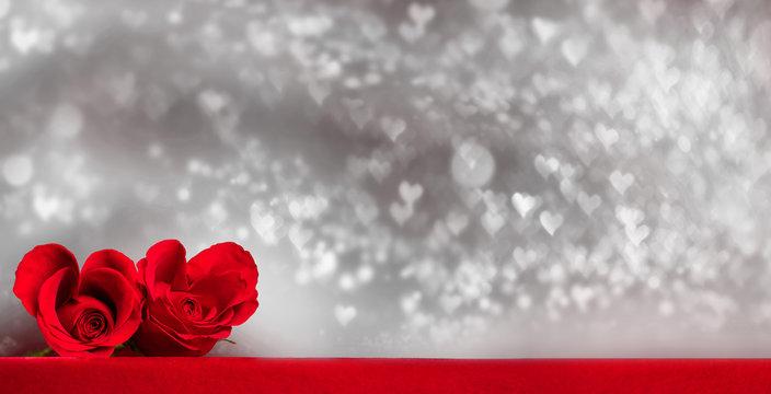 Heart shaped roses