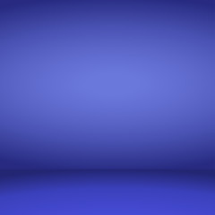 Empty blue studio room background. Vector illustration