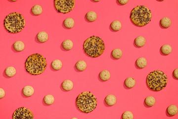 Top view of cookies biscuits