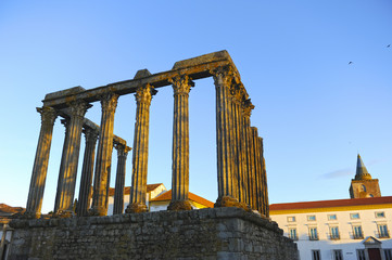 Temple of Diana in Evora, Alentejo, Portugal