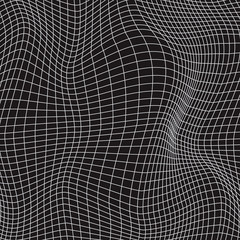 White waves lines, abstraction composition, volume surface, vector design background