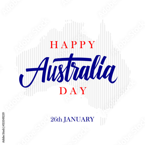Happy australia day greeting card with calligraphic element happy australia day greeting card with calligraphic element creative typography for holiday greetings vector m4hsunfo