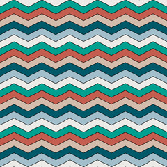 Geometric multicolor chevron or zig zag seamless pattern for textile and backgrounds