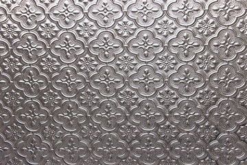 Glass floral pattern texture