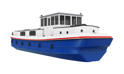 River Boat Isolated