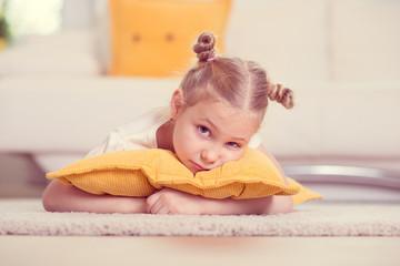 Cute little blonde girl portrait