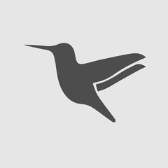 Hummingbird vector icon. Bird symbol. Vector EPS 10.