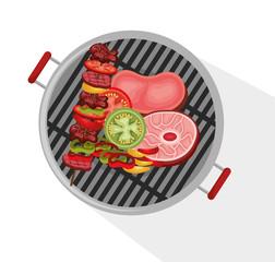 delicious barbecue food icon vector illustration design