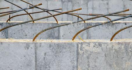 construction, rebar, building, cement, steel, metal
