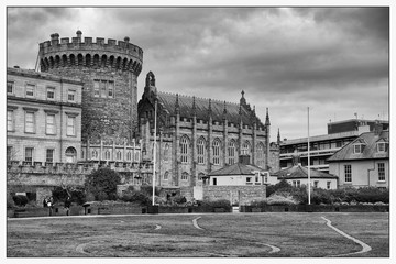 Dublin Castle in Black and White