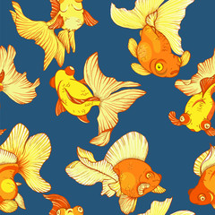 goldfish, seamless pattern