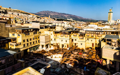 Färberei in Fès