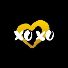 Xoxo Heart Handwritten Calligraphy