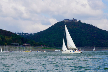 boats on the Edersee