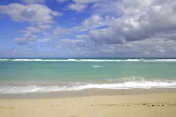 Sandy beach scene
