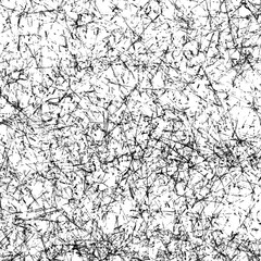 Hand-Drawn Black Permanent Marker Abstract Background.
