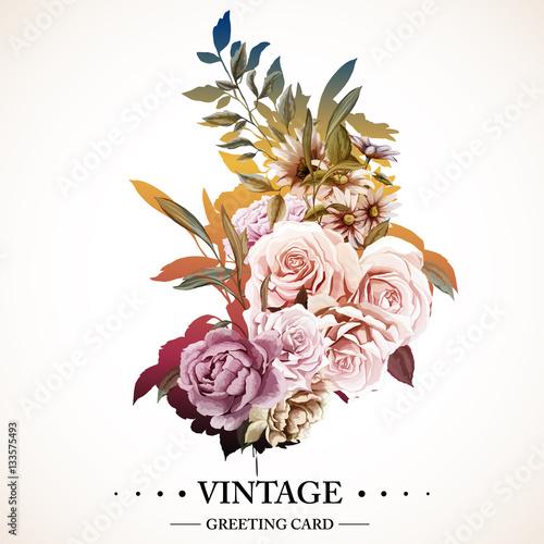 Vector Flower Vintage