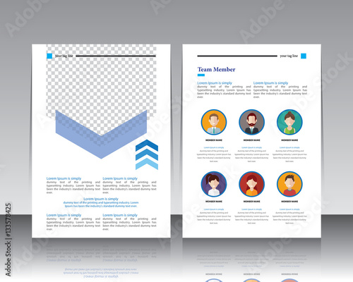 annual report design templates with backgraund paper white