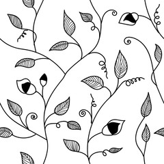 Vintage hand drawn seamless pattern.