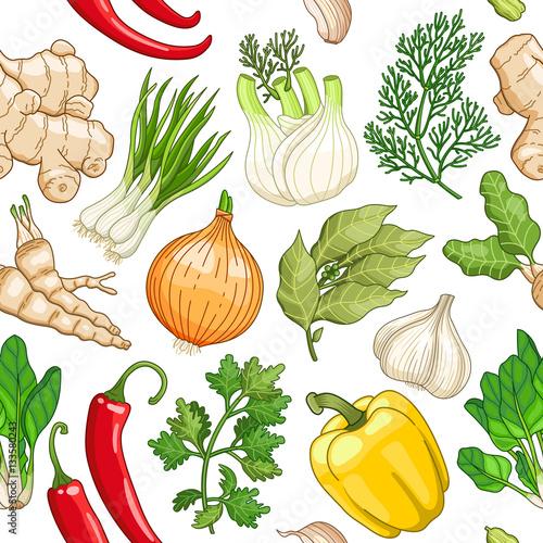 Vector vegetable seaml...