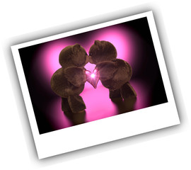 Valentine Teddies Kiss - Photo Style