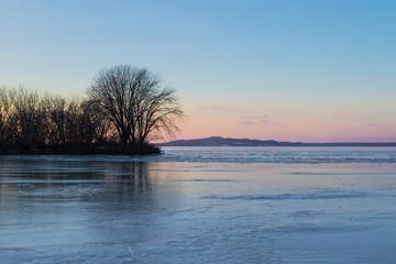 Muskegon Lake in January