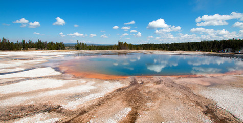 Turquoise Pool in the Midway Geyser Basin in Yellowstone National Park in Wyoming United States