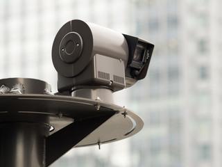 Fototapete - 屋外の防犯カメラ